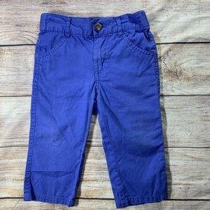 Andy & Evan bright blue twill khaki style pants